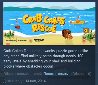 Crab Cakes Rescue ( Steam Key / Region Free ) GLOBAL