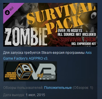 Axis Game Factory´s AGFPRO - Zombie Survival Pack DLC