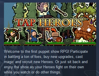 Tap Heroes ( Steam Key / Region Free ) GLOBAL ROW