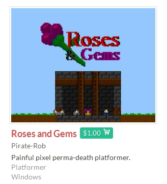 Roses and Gems itch.io REGION FREE GLOBAL ROW