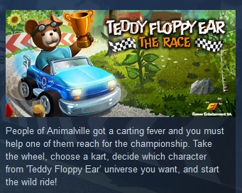 Teddy Floppy Ear The Race STEAM KEY REGION FREE GLOBAL