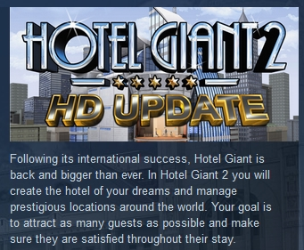 Hotel Giant 2 HD ( Steam Key / Region Free ) GLOBAL ROW