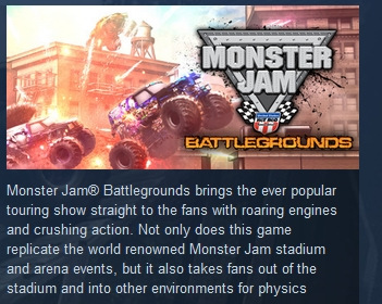 Monster Jam Battlegrounds STEAM KEY REGION FREE GLOBAL