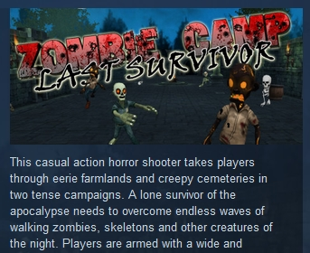 Zombie Camp: Last Survivor ( Steam Key / Region Free )