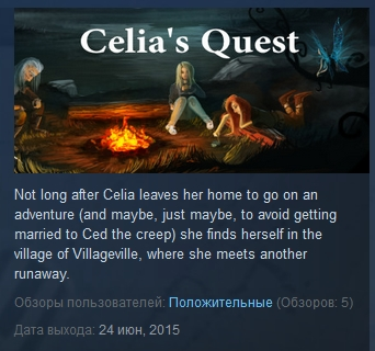 Celia´s Celias Quest  ( Steam Key / Region Free )