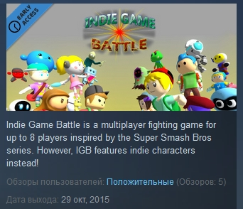 Indie Game Battle ( Steam Key / Region Free )