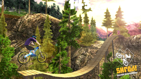 Shred! Downhill Mountain Biking STEAM KEY REGION FREE