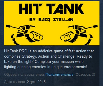 Hit Tank PRO ( Steam Key / Region Free ) GLOBAL ROW