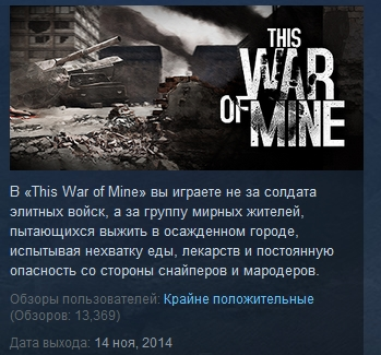 This War of Mine ( STEAM KEY )