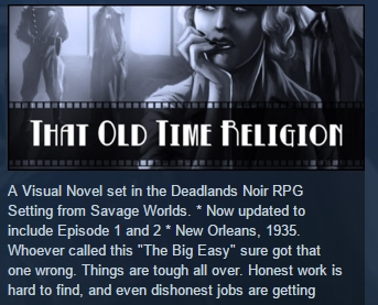 Deadlands Noir That Old Time Religion STEAM KEY GLOBAL
