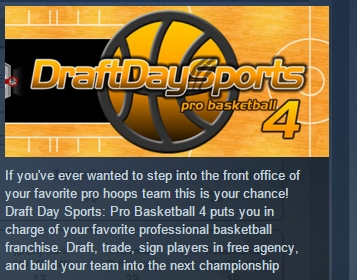 Draft Day Sports Pro Basketball 4 STEAM KEY REGION FREE