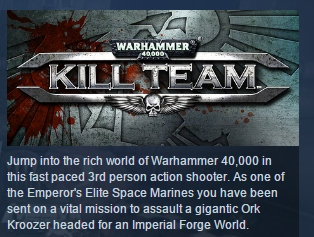 Warhammer 40,000: Kill Team STEAM KEY СТИМ ЛИЦЕНЗИЯ