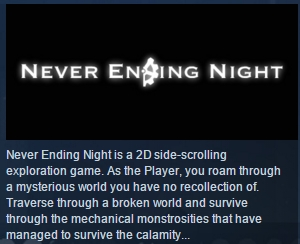 Never Ending Night ( Steam Key / Region Free ) GLOBAL