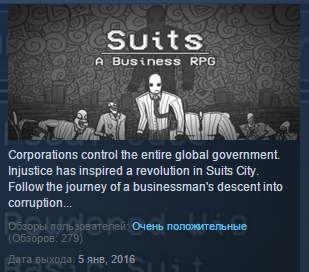Suits: A Business RPG ( Steam Key / Region Free ) ROW