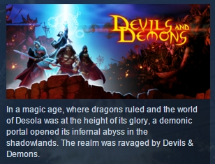 Devils & Demons ( Steam Key / Region Free ) GLOBAL ROW