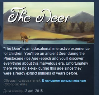 The Deer ( Steam Key / Region Free ) GLOBAL ROW