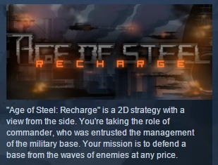 Age of Steel: Recharge  ( Steam Key / Region Free ) ROW
