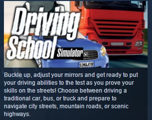 Driving School Simulator STEAM KEY REGION FREE GLOBAL