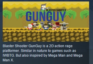 Blaster Shooter GunGuy! ( Steam Key / Region Free ) ROW