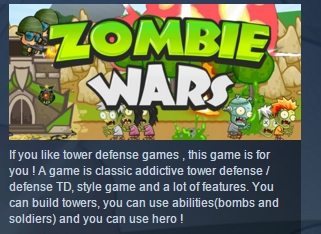 Zombie Wars: Invasion STEAM KEY REGION FREE GLOBAL ROW