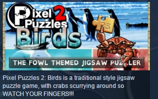 Pixel Puzzles 2: Birds STEAM KEY REGION FREE GLOBAL