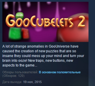 GooCubelets 2  ( Steam Key / Region Free ) GLOBAL ROW