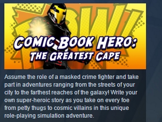 Comic Book Hero: The Greatest Cape STEAM KEY GLOBAL ROW