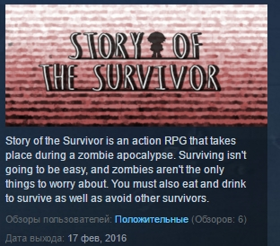 Story Of the Survivor STEAM KEY REGION FREE GLOBAL