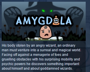 Amygdala  ( Steam Key / Region Free ) GLOBAL ROW