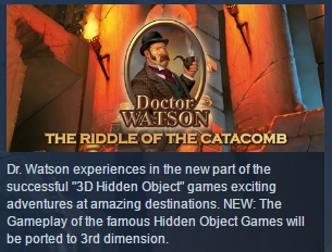 Doctor Watson - The Riddle of the Catacombs STEAM KEY