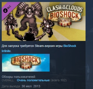 BioShock Infinite: Clash in the Clouds STEAM KEY GLOBAL