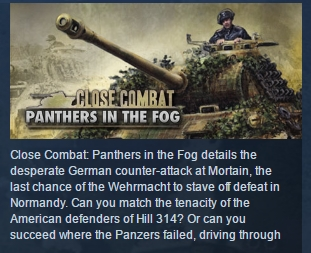 Close Combat Panthers in the Fog STEAM KEY REGION FREE