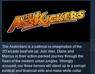 The Asskickers-Steam Edition STEAM KEY REGION FREE ROW