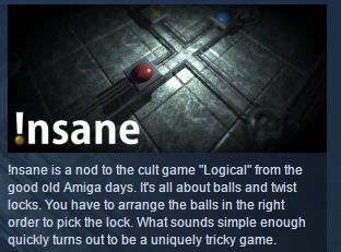 Insane !nsane  ( Steam Key / Region Free ) GLOBAL ROW