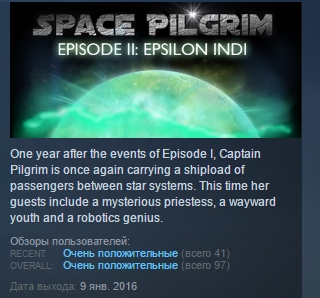 Space Pilgrim Episode II: Epsilon Indi STEAM KEY GLOBAL