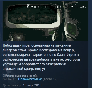 Planet in the Shadows ( Steam Key / Region Free )