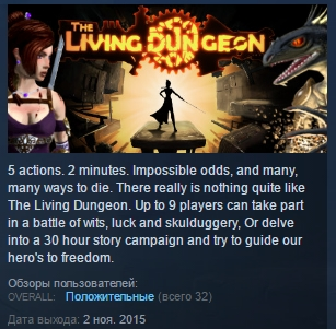 The Living Dungeon ( Steam Key / Region Free ) GLOBAL