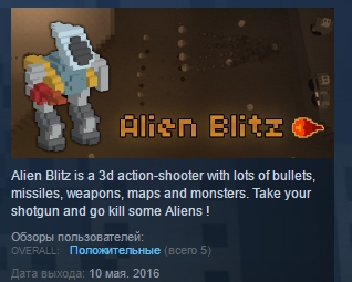 Alien Blitz  ( Steam Key / Region Free ) GLOBAL ROW