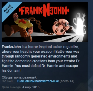 FranknJohn ( Steam Key / Region Free ) GLOBAL ROW