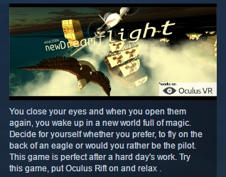 DREAMFLIGHT VR ( Steam Key / Region Free ) GLOBAL ROW