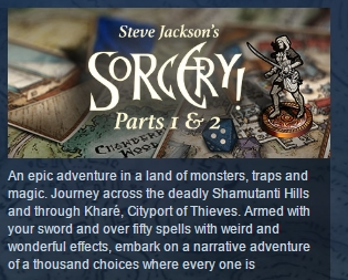 Sorcery! Parts 1 and 2 ( Steam Key / Region Free )