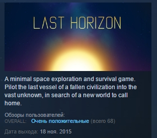 Last Horizon ( Steam Key / Region Free ) GLOBAL ROW