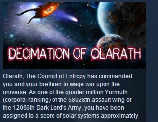 Decimation Of Olarath ( Steam Key / Region Free )