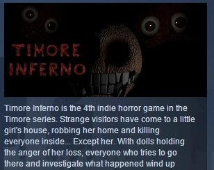 Timore Inferno ( Steam Key / Region Free ) GLOBAL ROW