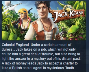 Jack Keane ( Steam Key / Region Free ) GLOBAL ROW