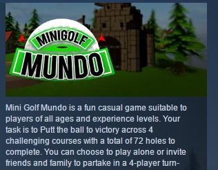 Mini Golf Mundo ( Steam Key / Region Free ) GLOBAL ROW