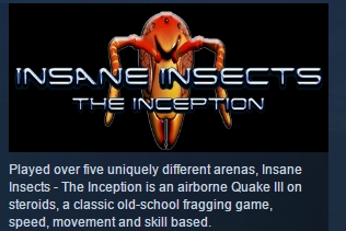 Insane Insects: The Inception STEAM KEY REGION FREE ROW