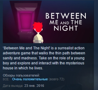 Between Me and The Night ( Steam Key / Region Free )