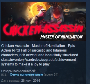 Chicken Assassin - Master of Humiliation STEAM KEY ROW
