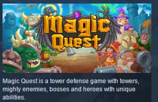 Magic Quest ( Steam Key / Region Free ) GLOBAL ROW